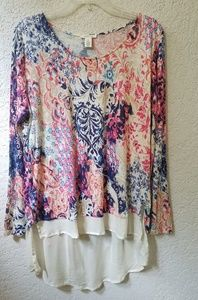 Westbound flowy long sleeved blouse size L